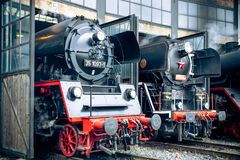 Free Steam Locomotive In Round House Stock Photo - 156769600