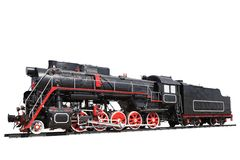 Steam locomotive isolated Royalty Free Stock Photos