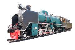Steam locomotive isolated on white Stock Photos