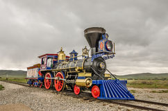 Steam Locomotive Jupiter. Replica of steam locomotive Jupiter at the Golden Spike National Historic Site in Utah royalty free stock photography