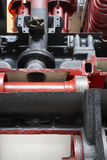Steam locomotive machinery piston pump section detail Royalty Free Stock Images