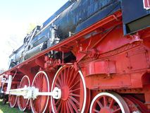Steam locomotive no. 142072 royalty free stock images