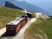 Steam Locomotive Of A Vintage Cogwheel Railway Going To Schafber, Wolfgangsee Stock Photography