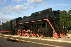 Steam locomotive old Stock Photo