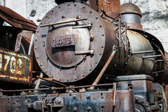 A steam locomotive Stock Images