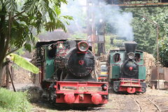Steam locomotive. Old steam locomotive made ​​in germany Tasikmadu owned sugar mills, Karanganyar, Central Java, Indonesia is still actively used to draw a Royalty Free Stock Image