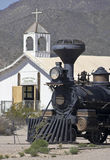 A Steam Locomotive at Old Tucson, Tucson, Arizona Stock Photography