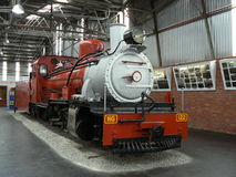 STEAM LOCOMOTIVE, OUTENIQUA TRANSPORT MUSEUM, GEORGE, SOUTH AFRICA. The Outeniqua Transport Museum is a railway museum located in George, South Africa. The Royalty Free Stock Image