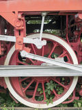 Steam locomotive power wheels detail, Resita, Romania Royalty Free Stock Photos