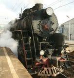 Steam locomotive on a railway Royalty Free Stock Image