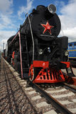 Steam locomotive on a railway Stock Images