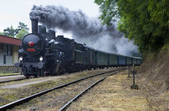 Steam locomotive. On railway memorial day, Czech republic royalty free stock photo
