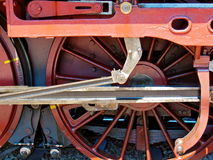Steam Locomotive Red Wheel Stock Images