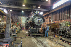 Steam locomotive restoration royalty free stock images