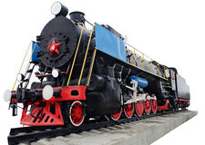 Steam locomotive, retro monument Stock Photography
