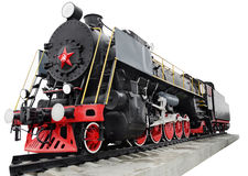 Steam locomotive, retro monument Stock Photo