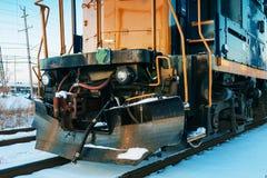 Steam locomotive running Royalty Free Stock Photos