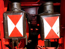 Steam locomotive signals Stock Photos