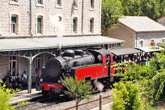 The steam locomotive Stock Photo