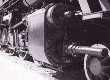 Details of Polish steam locomotive. Royalty Free Stock Image