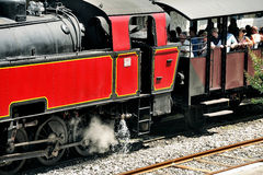 The steam locomotive Royalty Free Stock Photo