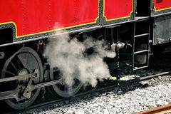 The steam locomotive Royalty Free Stock Photos