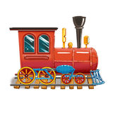 Steam locomotive on the tracks royalty free illustration
