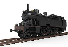 Steam Locomotive Train. Isolated on white background. 3D render Royalty Free Stock Photography