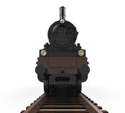 Steam Locomotive Train. Isolated on white background. 3D render Royalty Free Stock Photo