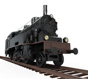 Steam Locomotive Train. Isolated on white background. 3D render Stock Images