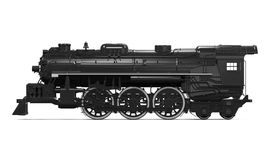Steam Locomotive Train. Isolated on white background. 3D render Royalty Free Stock Images