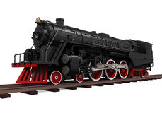 Steam Locomotive Train. Isolated on white background. 3D render Stock Photography