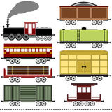 Steam Locomotive Train Set Stock Images
