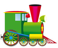Steam locomotive - vector illustration Royalty Free Stock Photo