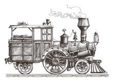 Steam locomotive vector logo design template Stock Photos