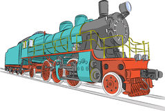 Steam locomotive. Royalty Free Stock Photos