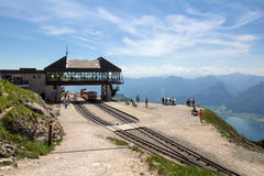 Steam locomotive of a vintage cogwheel railway going to Schafberg, Wolfgangsee Stock Photography