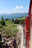 Steam locomotive of a vintage cogwheel railway going to Schafberg, Wolfgangsee Stock Image