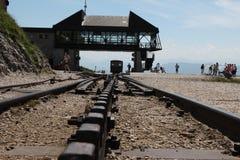 Steam locomotive of a vintage cogwheel railway going to Schafberg, Wolfgangsee Royalty Free Stock Image