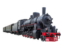 Steam locomotive with wagons Royalty Free Stock Images