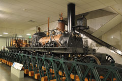 Steam Locomotive in Washington museum Stock Photography
