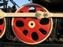 Steam locomotive wheel 40 years Stock Images