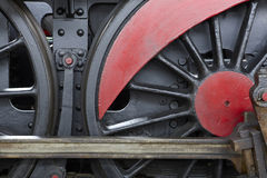 Steam locomotive wheel and connecting rod detail Royalty Free Stock Photography
