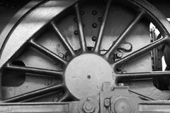 Steam locomotive wheel and connecting rod detail Stock Photos