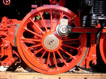 Steam locomotive wheel Royalty Free Stock Image