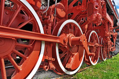 Steam locomotive wheel Royalty Free Stock Photo