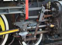 Steam Locomotive Wheel and Piston Detail Royalty Free Stock Photography