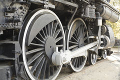 Steam locomotive wheels. The wheels of an old Steam locomotive Stock Photo