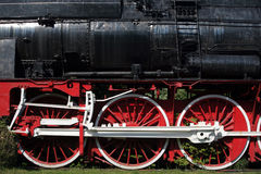 Steam locomotive wheels Stock Photography