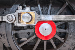 Steam Locomotive Wheels. Close-up of a steam locomotive wheel Royalty Free Stock Image